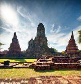 Ayutthaya Thailand - ancient city and historical place. Wat Chai Watthanaram
