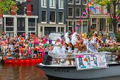 Lady Galore at the Amsterdam Canal Parade