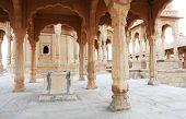 stock photo of jainism  - Bada Bagh Cenotaph in Jaisalmer - JPG