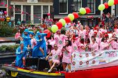 Moroccan Boat On The Amsterdam Canal Parade 2014