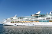 Tender Boats At Luxury Cruise Ship