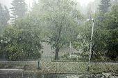 Hail Storm Background