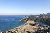 beautiful panorama of a greek beach