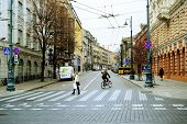 Vilnius City Centre At Autumn Time On November 14, 2014