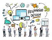 Responsive Design Internet Web Business People Technology Concept