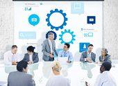 Business People Corporate Meeting Presentation Teamwork Team Concept