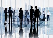 Business People Colleagues Conference Meeting Boardroom Interaction Concept