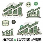 Vector Money Infographic Icons. Easy to edit, all pieces are separated.