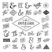 image of hand alphabet  - hand lettered ampersands and catchwords - JPG