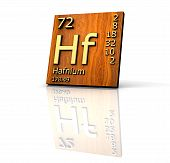 Hafnium Form Periodic Table Of Elements - Wood Board