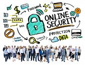 Online Security Protection Internet Safety Business Aspiration Concept