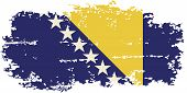 Bosnia and Herzegovina grunge flag. Vector
