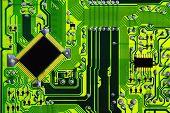 Green computer electric circuit board
