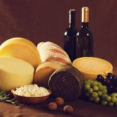 Wine, cheese and other traditional food