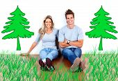 Loving Couple in the home. Ecologic green house.