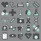 Healthcare Health Medicine Hospital Laboratory Icon Vector Concept