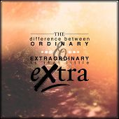 Inspirational Typographic Quote - The difference between ordinary & extraordinary is that little extra