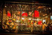 Night city restaurant