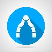 Flat round vector icon for arch