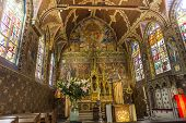 Interiors of Basilica of the Holy Blood, bruges, belgium