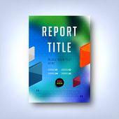 Modern Vector Template for Business Brochure, Report, Poster, Banner or Flyer Design. Blurred Background.
