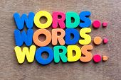 Words In Wood Background