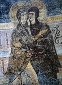 ancient frescoe in Saint Sophia Cathedral, Kiev, Ukraine