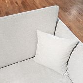 Elegant Gray Sofa With Cushion