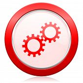 gears icon options sign