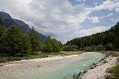 Wonderfual river valley in Austrian alps