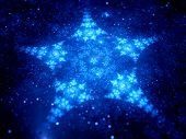 Star Shaped Fractal In Space