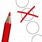 Choice - Red Pen With Cross