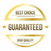 Guaranteed sales label