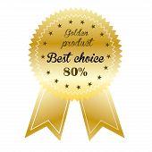Best Choice golden sales label