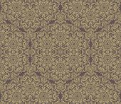 Pattern in the style of Baroque. Abstract Golden Vector Background