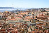 Cityscape Of Lisbon, Portugal Buildings