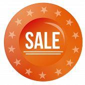 Round sales label