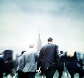 Business People Commuter Rush Hour City Concept