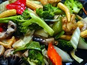 Closeup Chinese Vegetable Delight