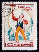 Postage Stamp North Korea 1965 Balancing Act, Circus, Pyongyang