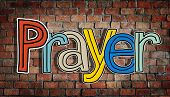 Prayer Word Concepts Isolated on Background