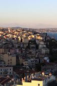 Landscape Of Istanbul At Sunset