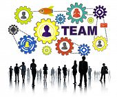 Crowd Business People Connection Gear Corporate Team Concept