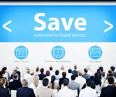 Business People Save Design Concept