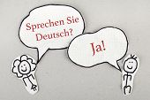Do You Speak German in German Language Concept