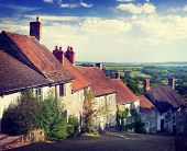 British Culture Traditional House Famous Travel Spot Concept