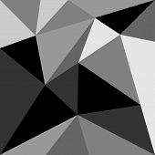 Grey and black triangle vector background or pattern.