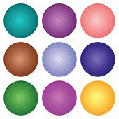 Set Of 9 Spheres