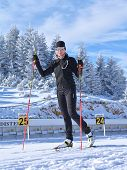 Fundata, Brasov County, Romania -january 02, 2015, Florina Ioana Cirstea, Romanian Biathlon Team Tra