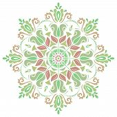 Damask Vector Pattern. Orient Colorful Ornament